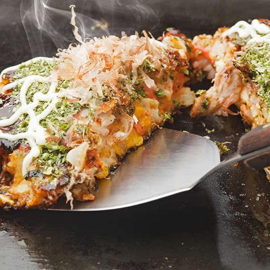 Okonomiyaki, Monjayaki and Takoyaki