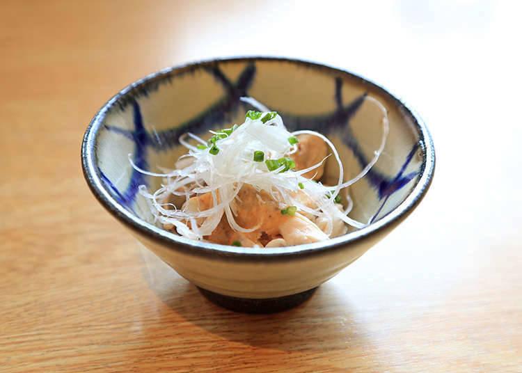 明明沒有點但也會送上來的「O-toshi(下酒前菜)」