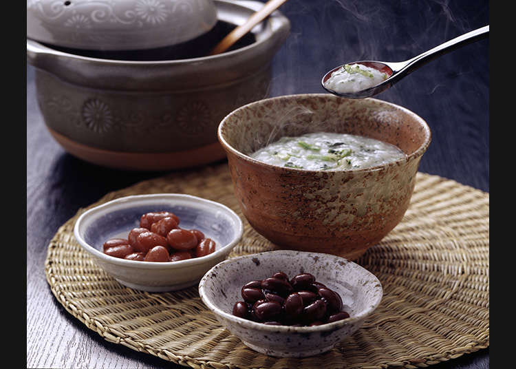 Okayu and zosui (rice porridge)