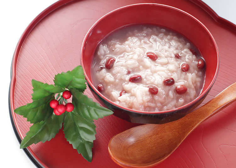 Okayu with red beans