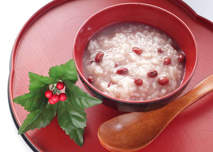Bubur yang mengandungi kacang merah