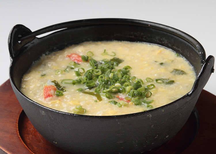 日式做法是要用雜炊來作為火鍋料理的結尾