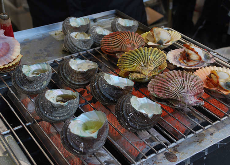 Sejarah hidangan kerang atau hidangan makanan laut Jepun