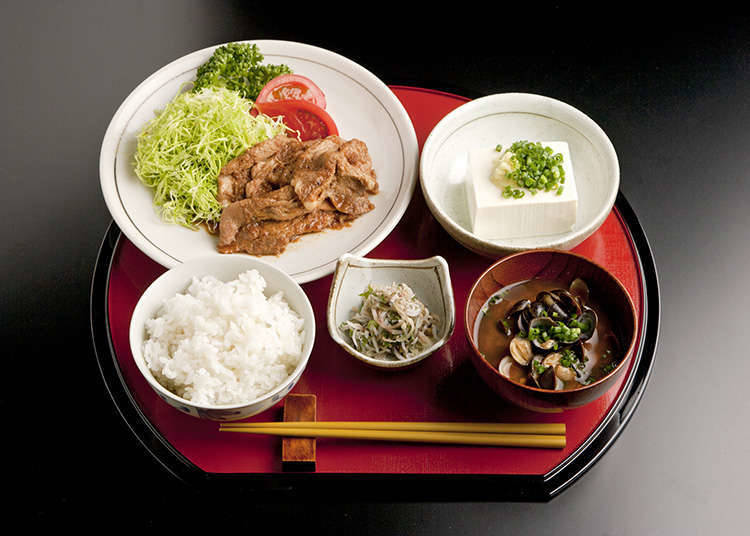 The prototype of Japanese cuisine is one soup and three dishes.