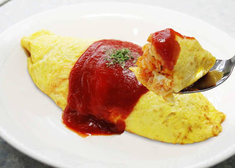Omu-rice (Omelet dengan nasi goreng)
