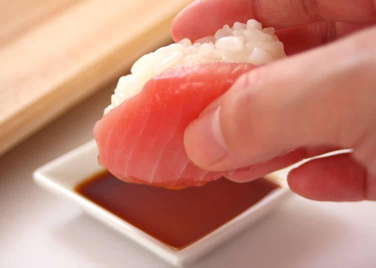 Cara betul untuk makan sushi.