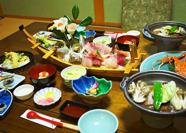 Meals and Bathing at a Ryokan