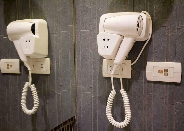 อุปกรณ์อำนวยความสะดวกในห้องพักของโรงแรมทั่วไป