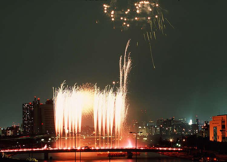 Pertunjukan Kembang Api di Sumidagawa