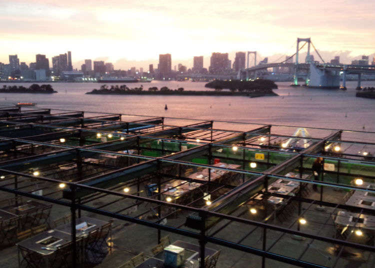 Enjoy some BBQ at Decks Tokyo Beach
