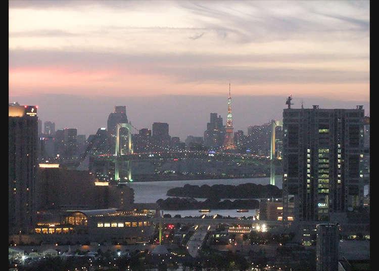 ทัศนียภาพของกรุงโตเกียวที่ชมจาก