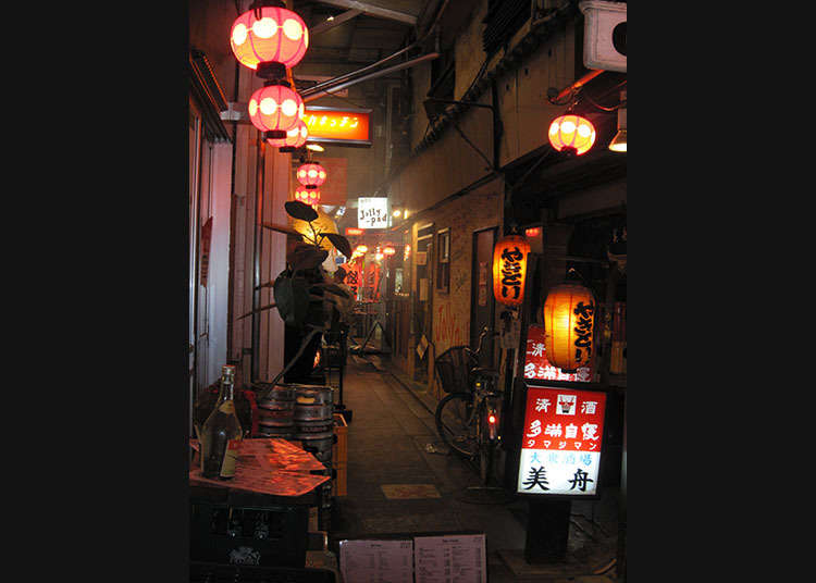 Through the back-alleys of Kichijoji at Harmonica Yokocho