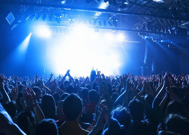라이브 하우스에서 열리는 콘서트