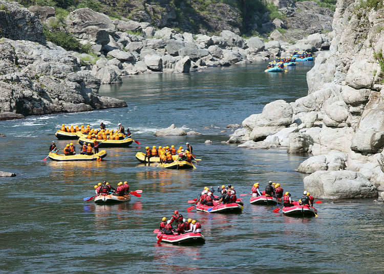 Nature sports in rivers