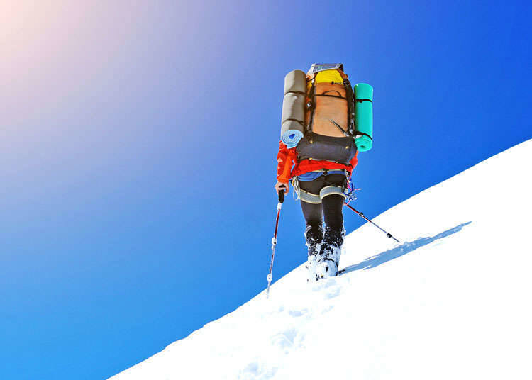 Trekking jalan salji (snowshoe trekking) dan ski backcountry (backcountry)