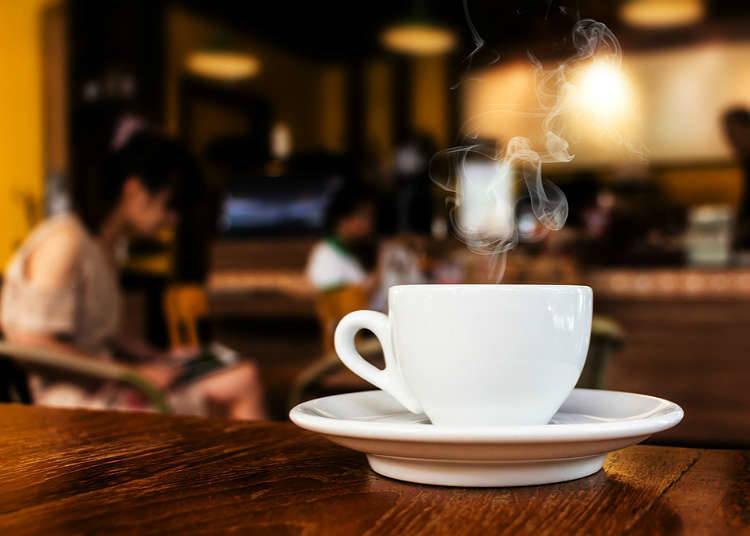 Sejarah Kafe Jepun, Kedai Kopi dan Kuih-muih