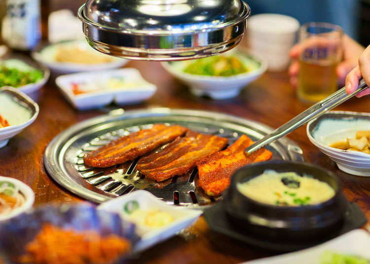 Typical Korean dishes in Japan