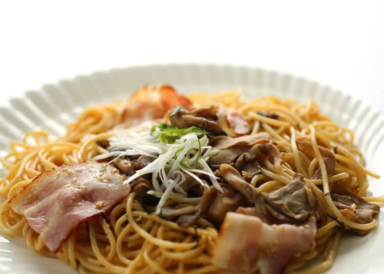 Unique Japanese pasta and spaghetti