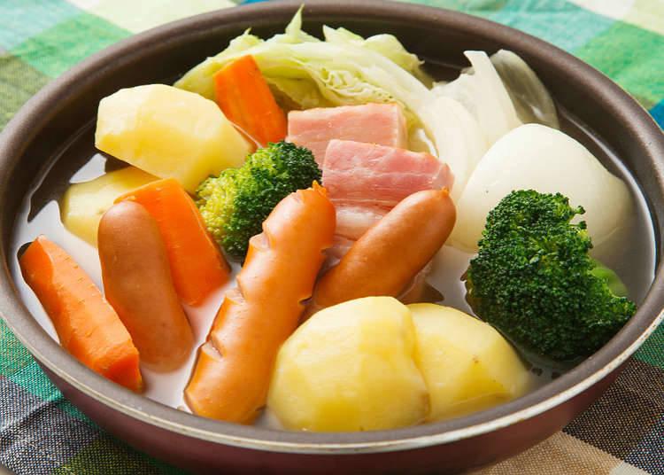 菜肉濃湯、馬賽魚湯