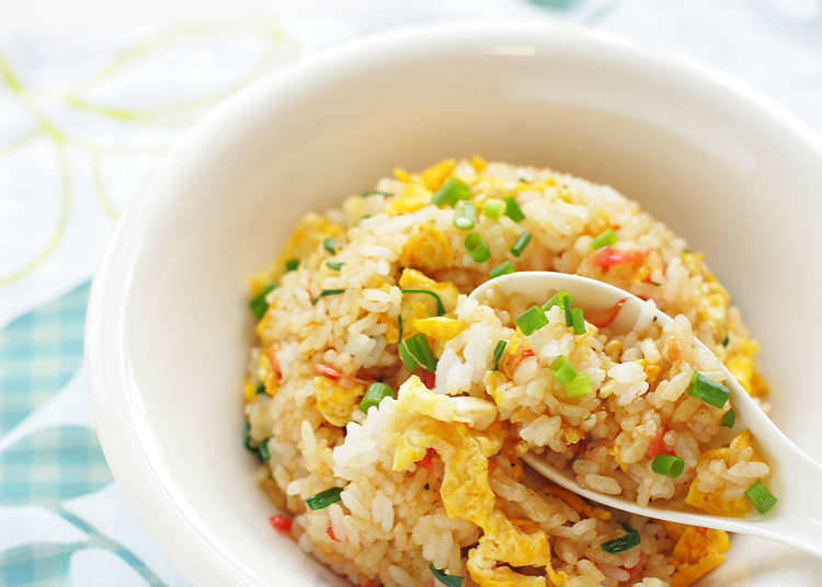 Types of fried rice and rice dishes