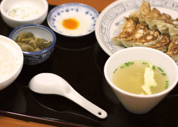 Makanan Sepaket dengan Gyoza