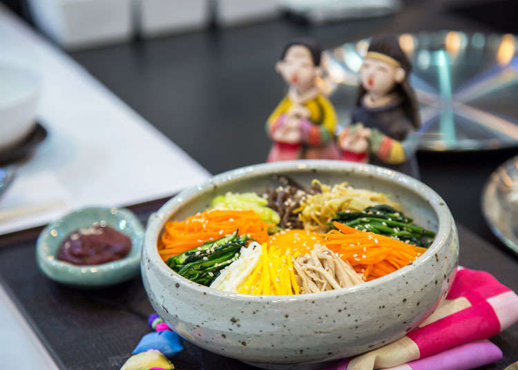 Where can you eat bibimbap in Japan?