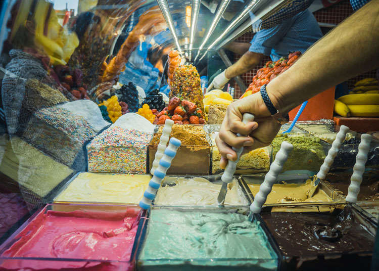 돈두르마(터키풍 아이스크림)