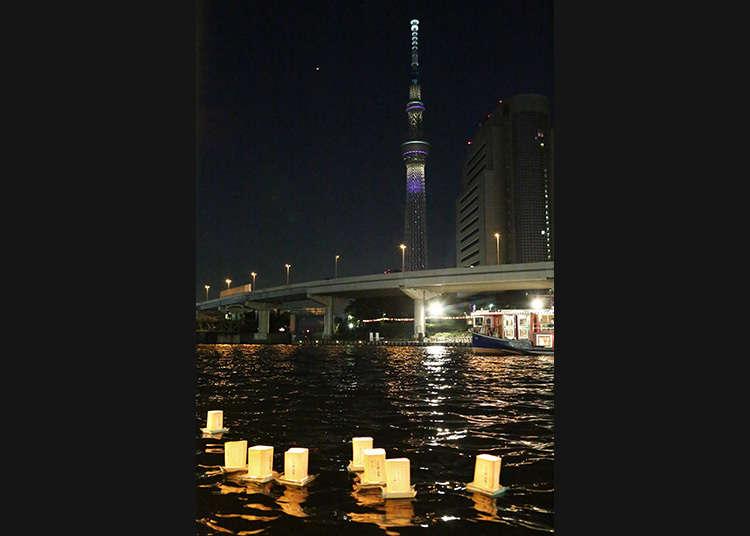 「淺草夏夜祭 燈籠放流」