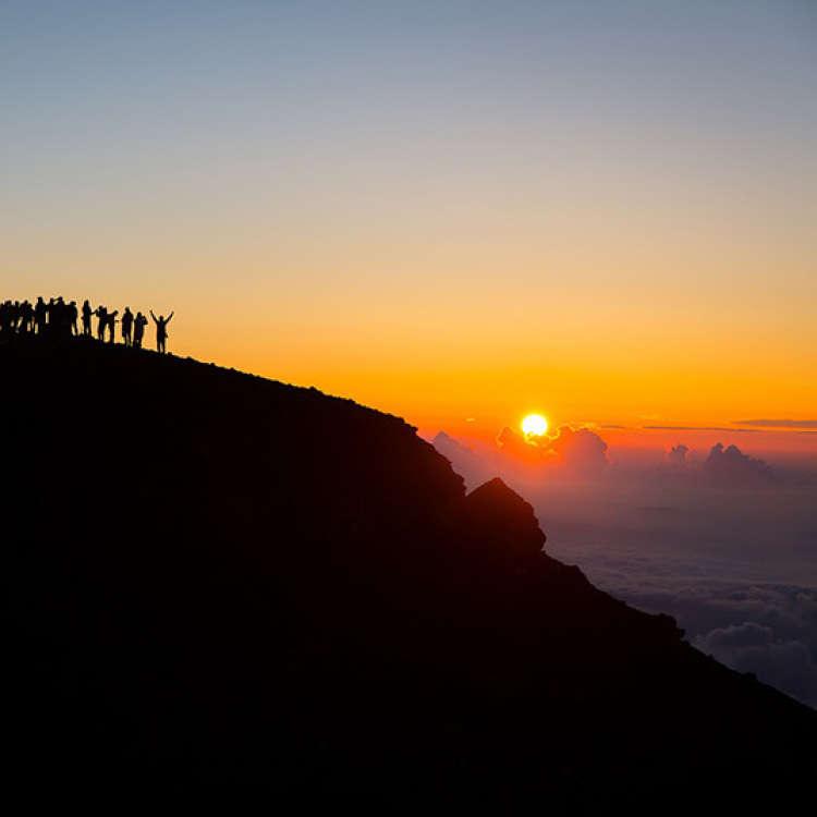 후지 산에 올라갈 준비