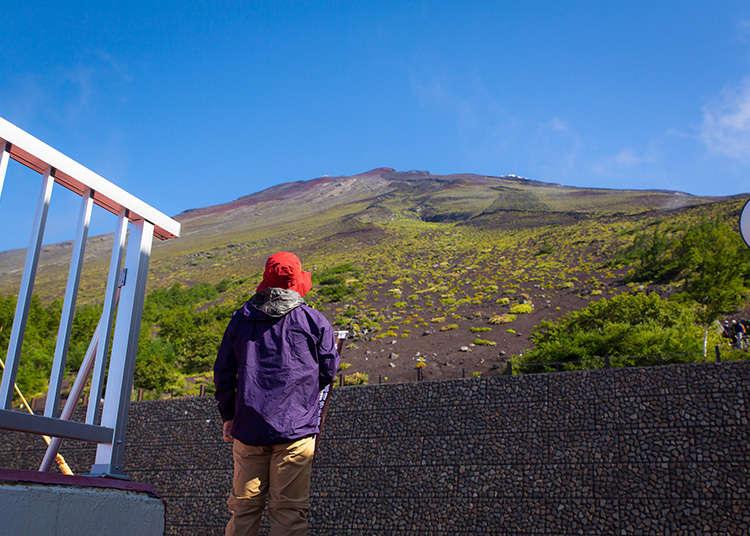 留下一个没有垃圾、干净的富士山