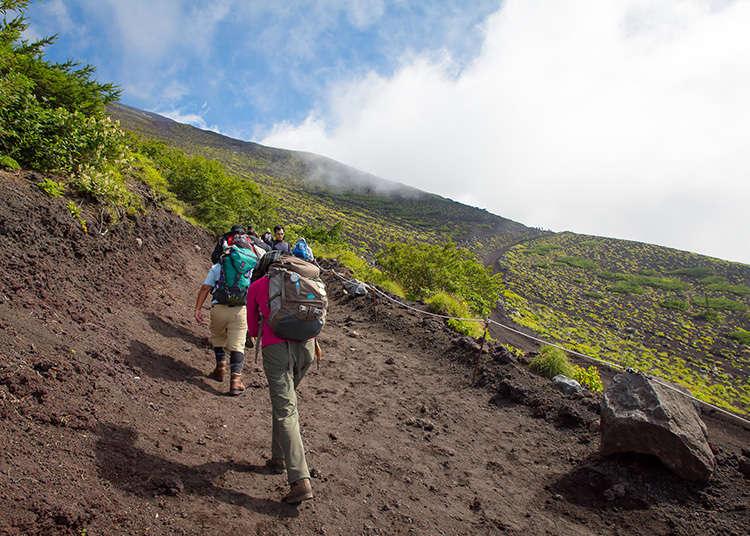 Reaching the peak of Mt. Fuji