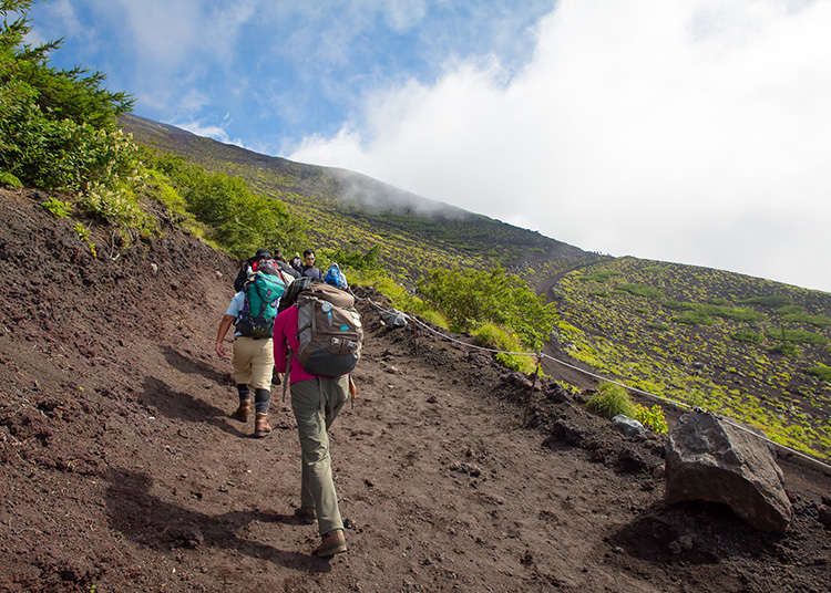 How to get to the peak of Mt. Fuji