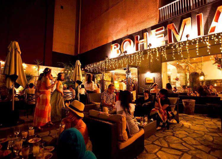 시부야 최대 규모의 오픈 테라스, cafe BOHEMIA