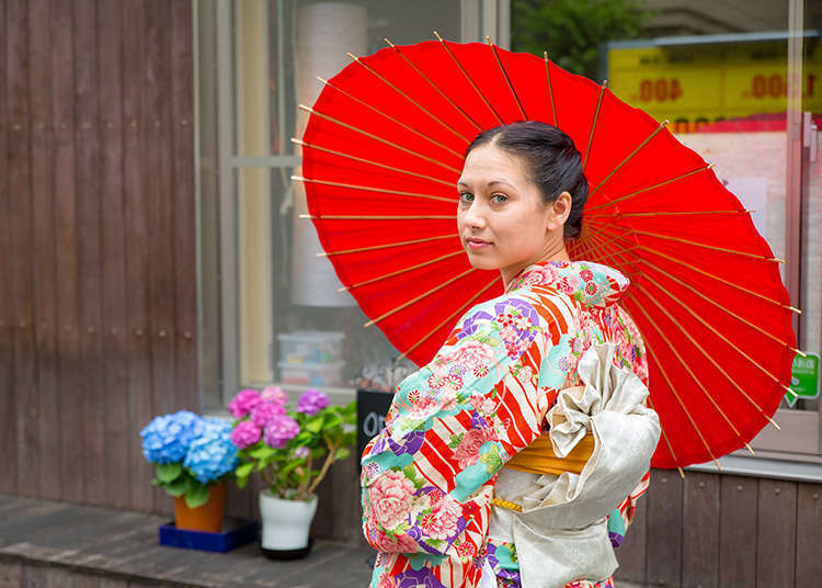 [MOVIE] 도쿄의 전통 있는 거리에서 기모노 입기 체험