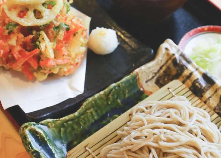 有名蕎麥麵老舖的「炸什錦蔬菜天婦羅」也是絕品