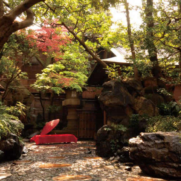 완전히 다른 세계! 우아한 다다미방 & 일본정원을 갖춘 유명점
