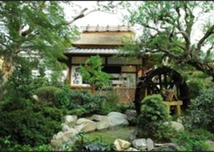 Menikmati tahu terkenal di ruangan khas Jepang sambil merasakan suasana era Edo