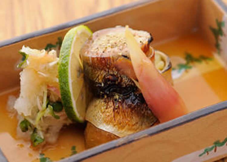유명 그루메 가이드에 게재된 창작 일본요리