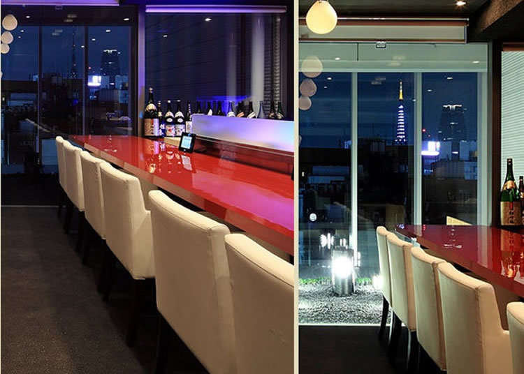 Luxurious Japanese Cuisine Along with a View of Tokyo Tower