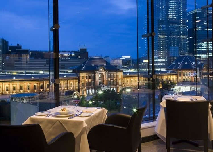 A Famous French Restaurant Overlooking Tokyo Station