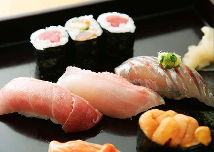 大师技巧精致熟练的寿司店老铺