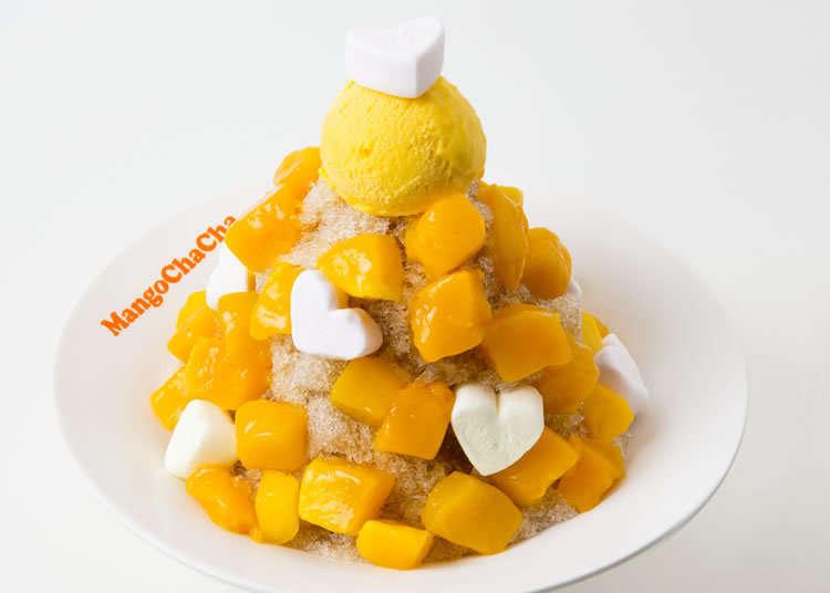 台灣產芒果滿滿地包圍著的刨冰!