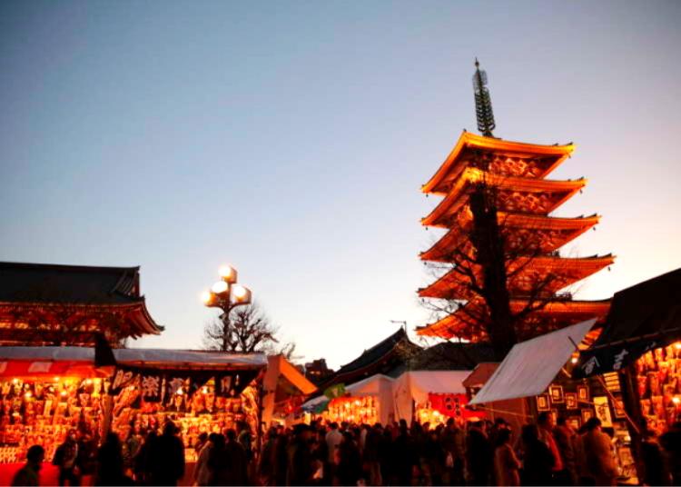 Asakusa's Hagoita-Ichi Festival