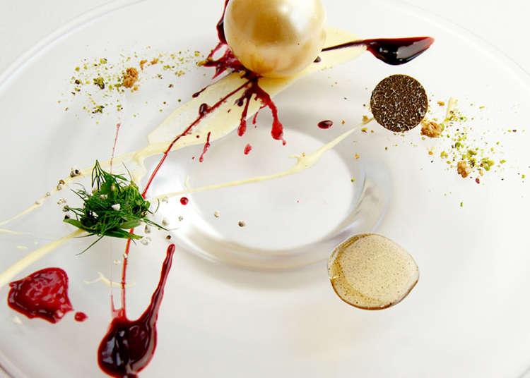 以套餐尽情享用法国菜名店的盘饰甜点