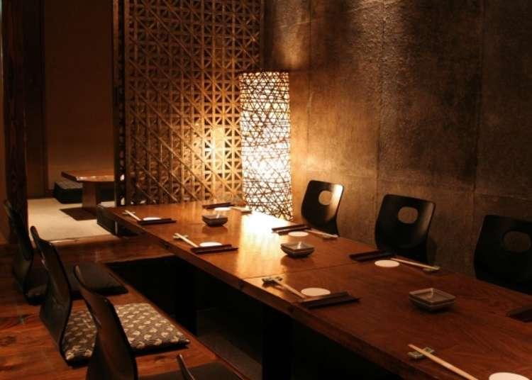 在滿溢高級感的氛圍中享受日本酒的美味