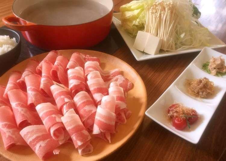 以涮涮鍋享用嚴選的名牌豬肉
