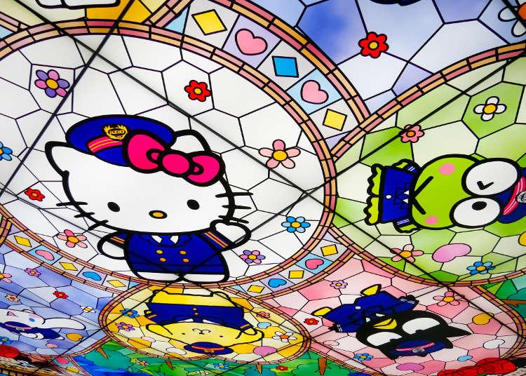 引人注目的彩绘玻璃风格顶棚照明
