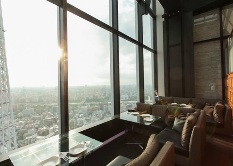 從最高樓層觀望的絕佳景色
