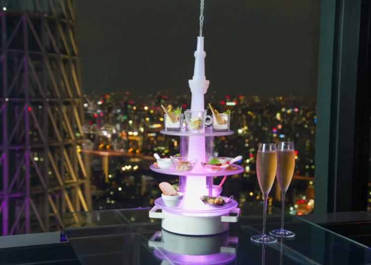 著名料理「Amuse Tower」前菜塔