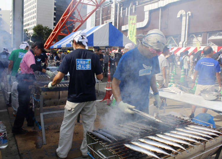 三陸、大船渡 東京鐵塔秋刀魚祭